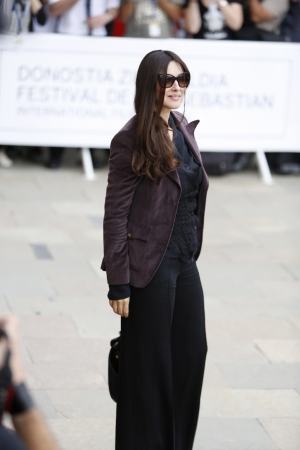 Arrival of Monica Bellucci