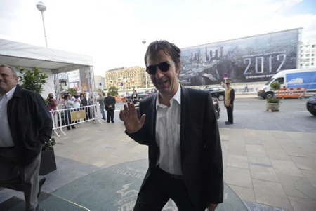Director Atom Egoyan arriving to the María Cristina Hotel