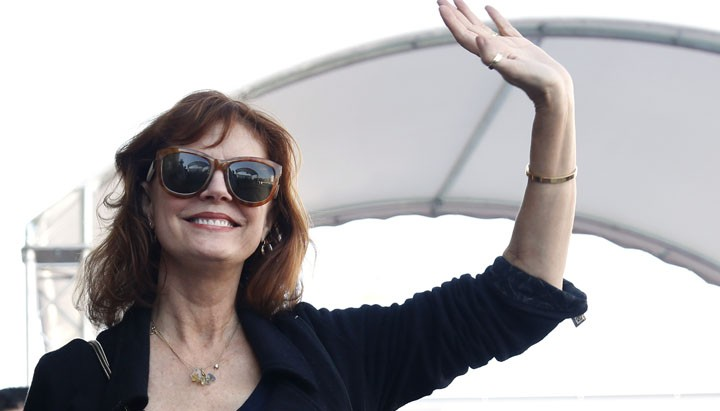 Arrival of Susan Sarandon