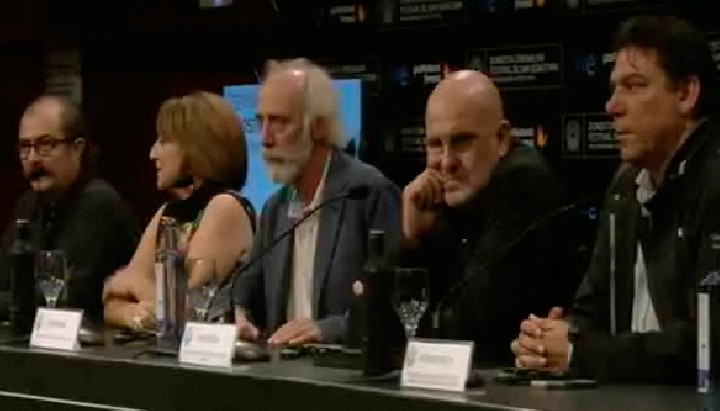 Press conference ''Esta no es la vida privada de Javier Krahe''