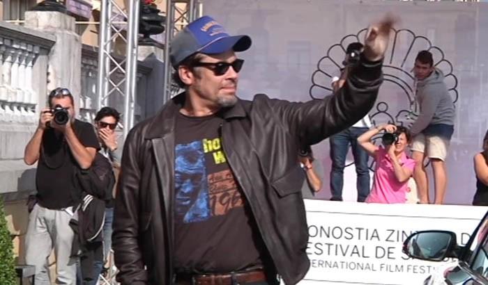 Arrival of Benicio del Toro