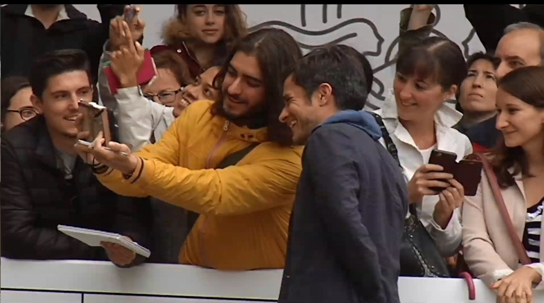 Arrival of Gael García Bernal