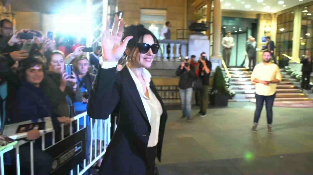Arrival of Monica Bellucci