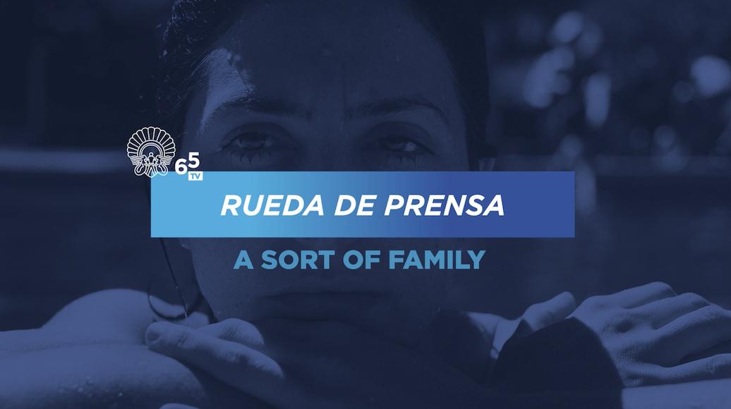 Rueda de prensa ''Una especie de familia'' (S.O.)