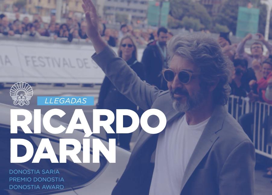 Llegada de Ricardo Darín ''La Cordillera'' (Premio Donostia)
