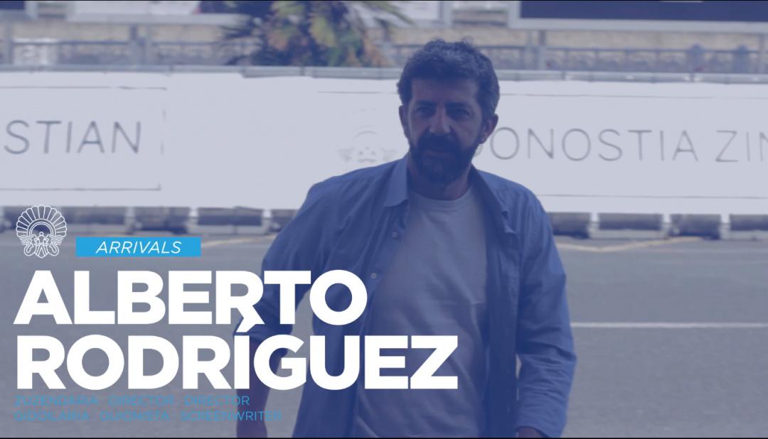 Llegada Alberto Rodriguez y Rafael Cobos ''La Peste'' (S.O.)