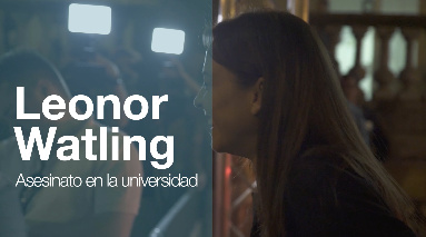 Arrival of ''LEONOR WATLING'' ''ASESINATO EN LA UNIVERSIDAD'' (Gala TVE)