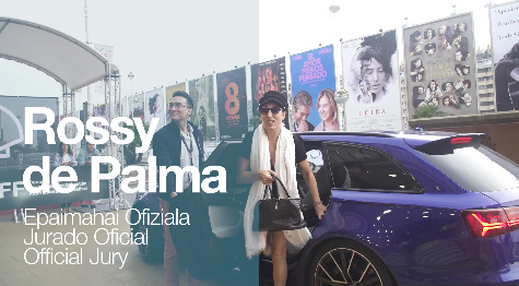 Arrival of ''ROSSY DE PALMA''. Official Jury Members