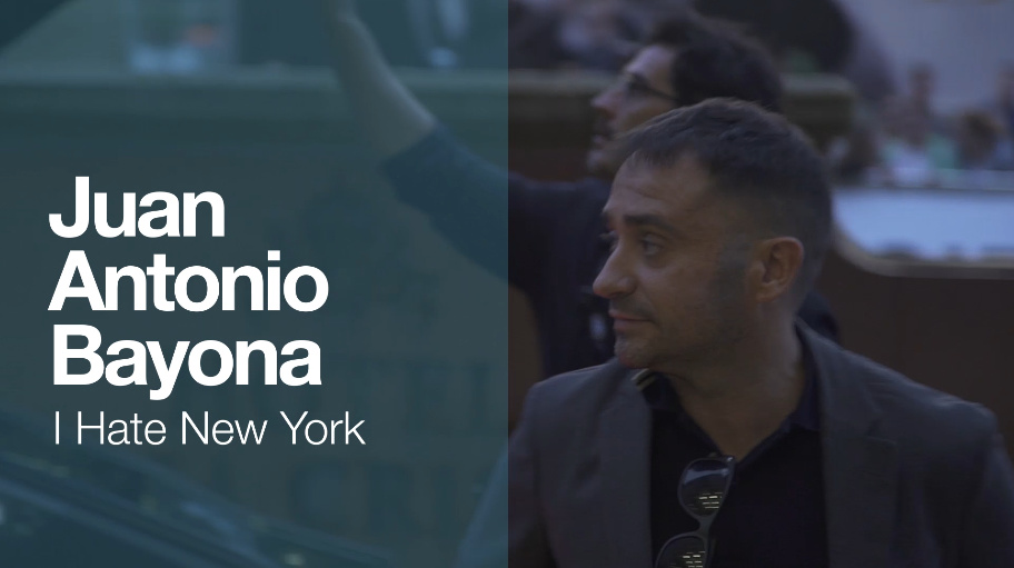 Arrival of ''JUAN ANTONIO BAYONA'' ''I HATE NEW YORK'' (Made in Spain)
