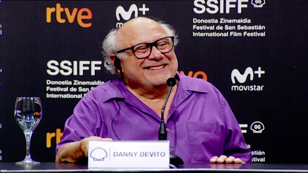 Press Conference Donostia Award ''DANNY DEVITO'' ''SMALLFOOT'' (Velodrome)