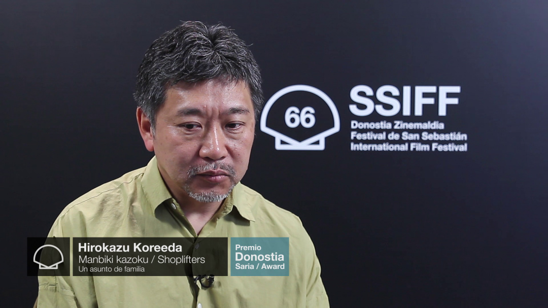 Interview to ''HIROKAZU KOREEDA'' ''SHOPLIFTERS'' (Donostia Award Special Screenings)