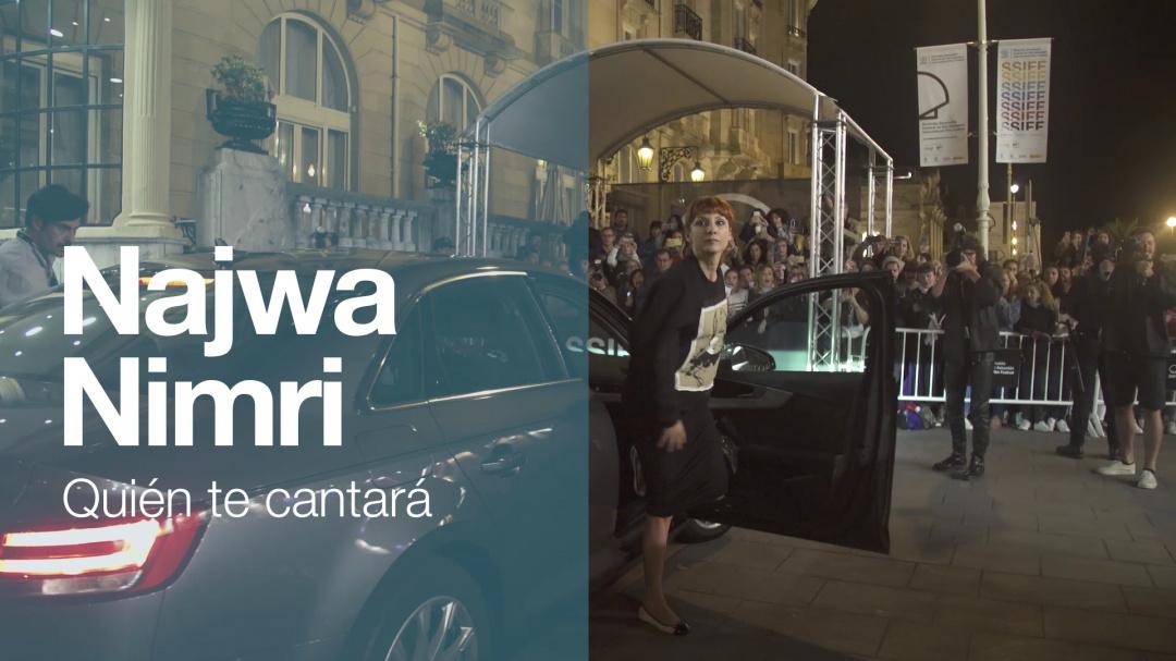 Arrival of ''NAWJA NIMRI'' ''QUIÉN TE CANTARÁ'' (O.S)