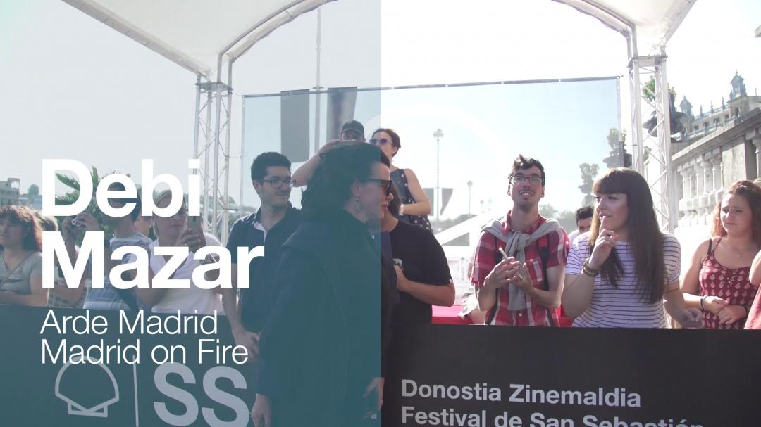 Arrival of ''DEBI MAZAR'' ''ARDE MADRID'' (Velodrome)