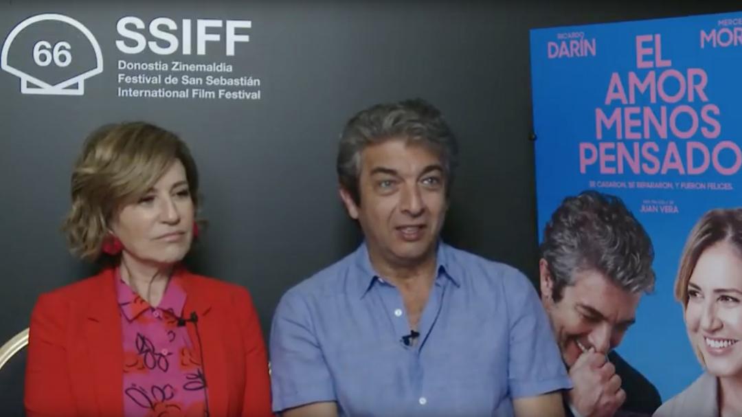Entrevista a ''RICARDO DARÍN, MERCEDES MORÁN y JUAN VERA'' ''EL AMOR MENOS PENSADO'' (S.O) vo es eu in  vo es eu in  es eu in  es eu in