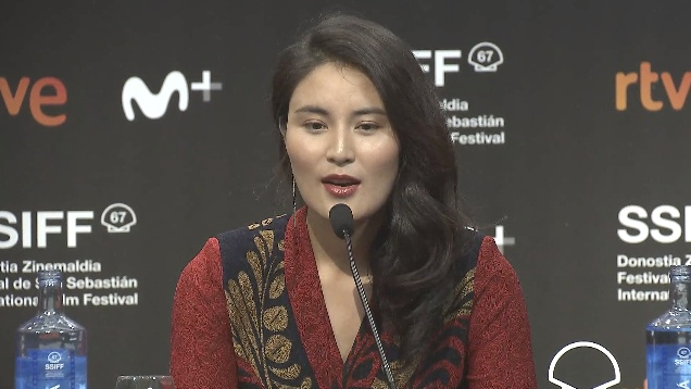 Press Conference ''LA MU YU GA BEI / LHAMO AND SKALBE'' (O.S)