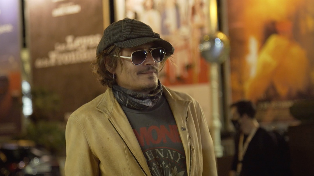 Arrival of Johnny Depp ''CROCK OF GOLD: A FEW ROUNDS WITH SHANE MACGOWAN'' (O.S.)