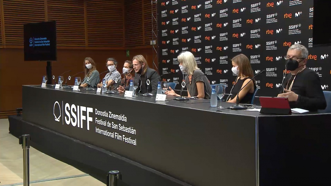 Press Conference ''SUTEMOSE / IN THE DUSK'' (O.S.)