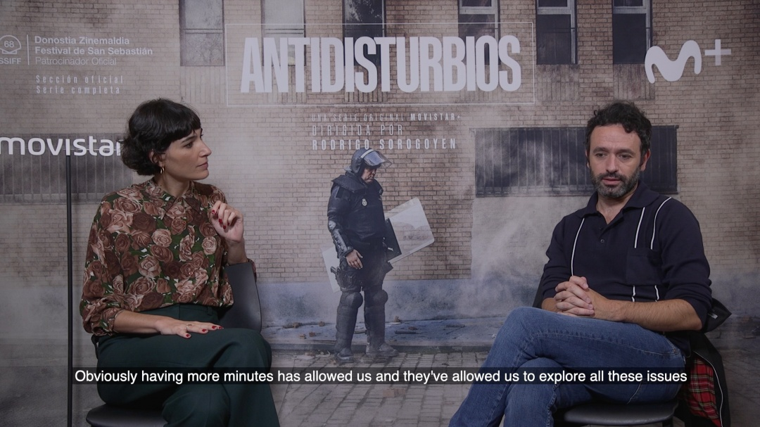 Interview to  ''ANTIDISTURBIOS / RIOT POLICE'' (O.S.)