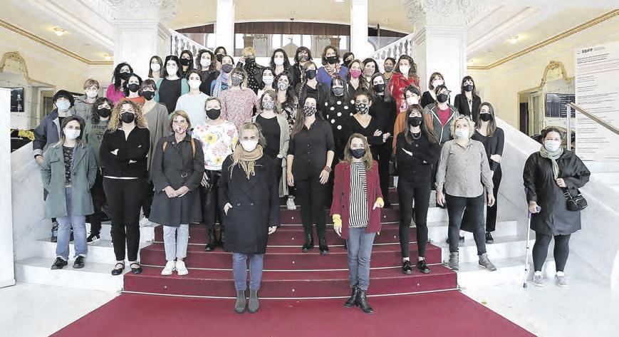 Foto colectiva de las integrantes de la asociación.