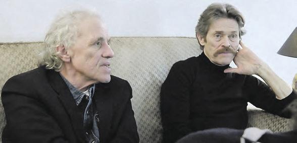 El director junto al actor Willem Dafoe en un momento de la película.