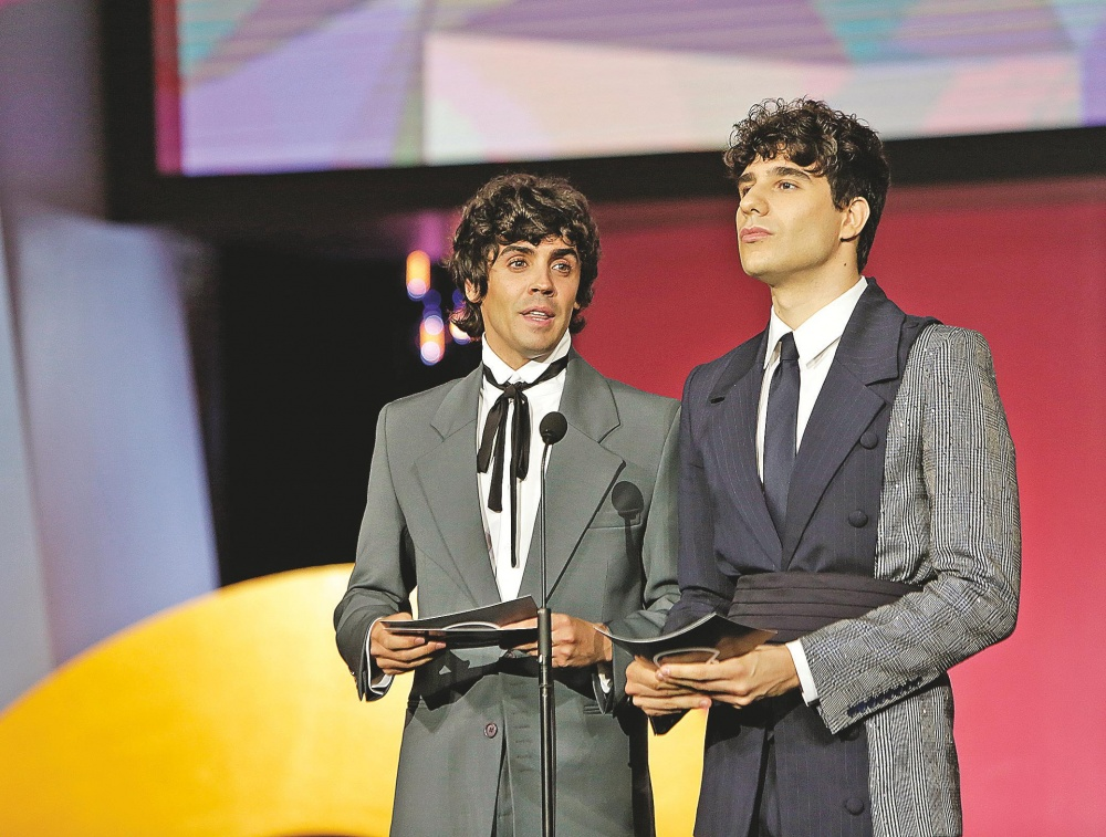 Los Javis participaron en la gala para reivindicar el género de la comedia.