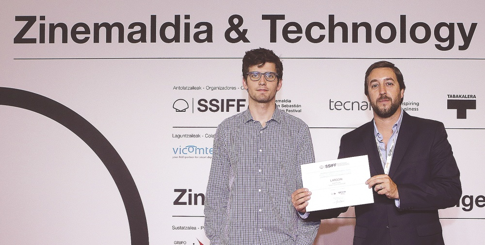 The winners of Zinemaldia Startup Challenge, José Garrido and Javier Krause from LargoAI.