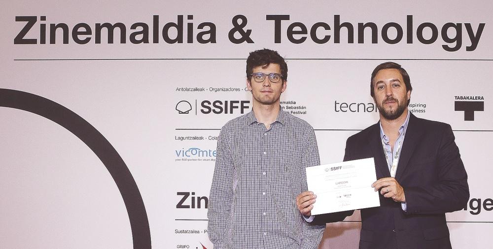The winners of Zinemaldia Startup Challenge, José Garrido and Javier Krause from LargoAI.