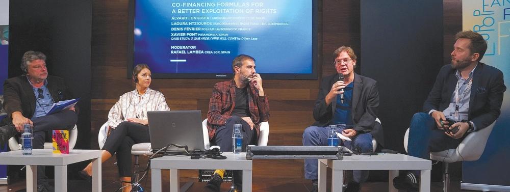 Rafael Lambea, Laoura Ntziourou, Xavier Font, Álvaro Longoria and Denis Février