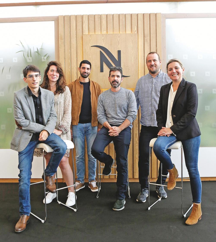 Marc Vadillo, Victoria Fresneda, Marwan Sabri, José Manuel Prada, Eduardo Peiró y Marta López.