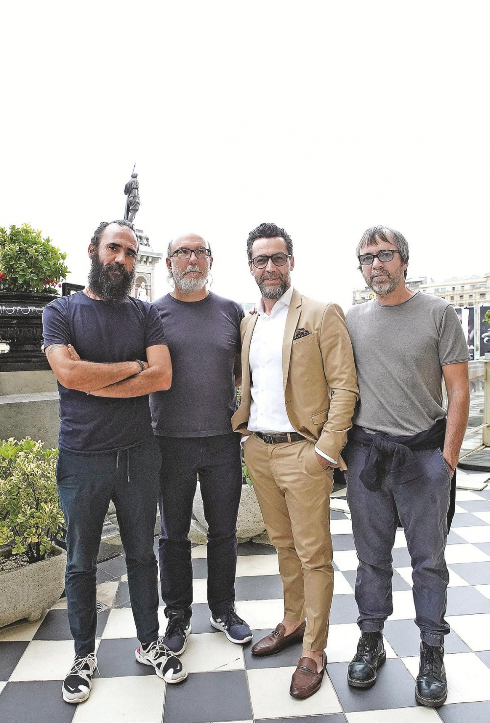 Los publicistas Jorge Martínez, Toni Segarra, el cocinero Quique Dacosta y el director Sergio Piera.