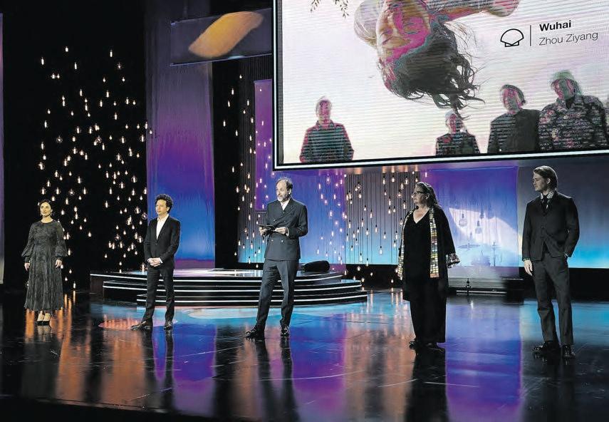 Marisa Fernández Armenteros, Michel Franco, Luca Guadagnino, Lena Mossum eta Joe Alwyn Epaimahai Ofizialeko kideak.