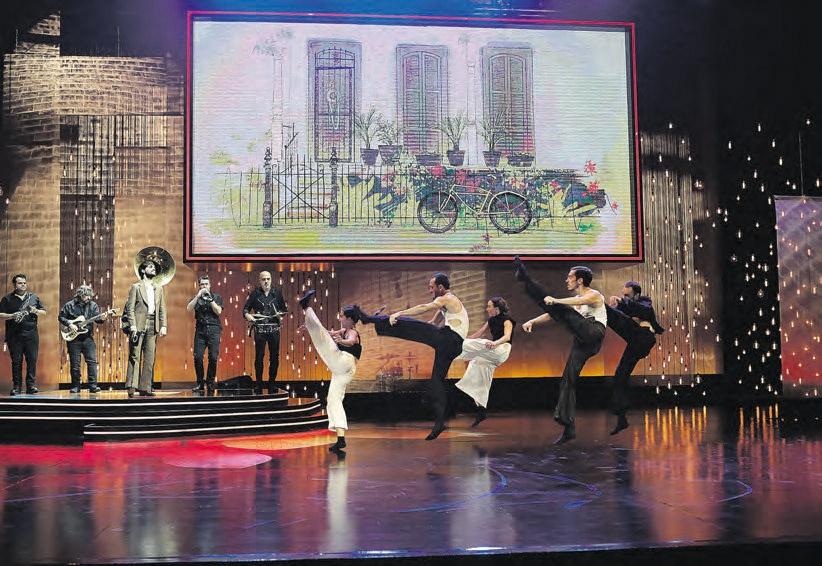 Una de las coreografías de la ceremonia.