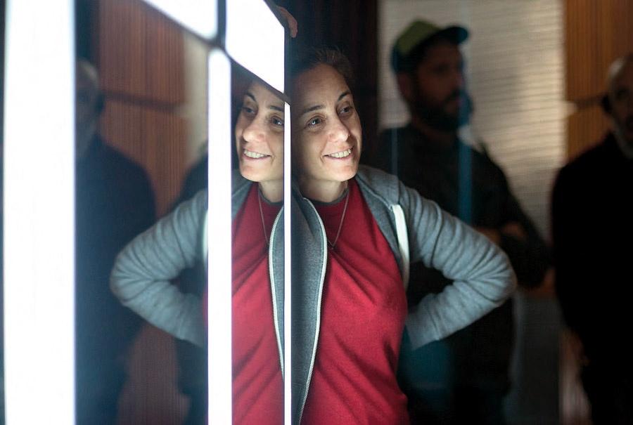 La directora Natalia Meta durante el rodaje de El prófugo.