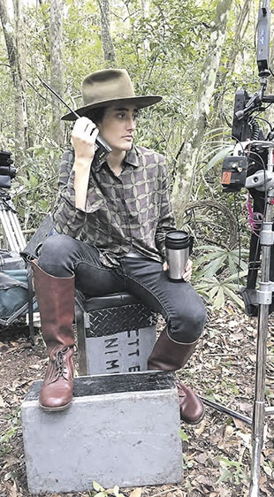 Yulene Olaizola durante el rodaje de Selva trágica.