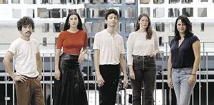 De izquierda a derecha, Gabriel Azorín, Elena Martín, Diego Céspedes, Jessica Sarah Rinland y Jaione Camborda.