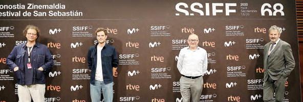 Frédéric Boyer, Antoine Thirion, José Luís Rebordinos y Laurent Carpentier.