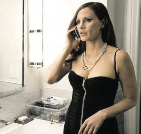 Jessica Chastain en Molly's Game.