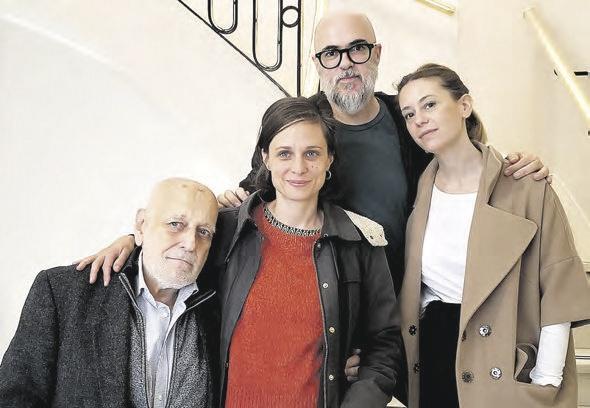 Edgardo Cozarinsky, Romina Paula, Santiago Loza y Virginia Cosin.