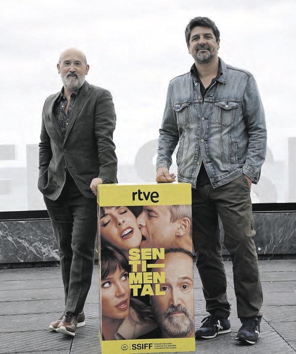 Javier Cámara y Cesc Gay, actor y director de Sentimental.