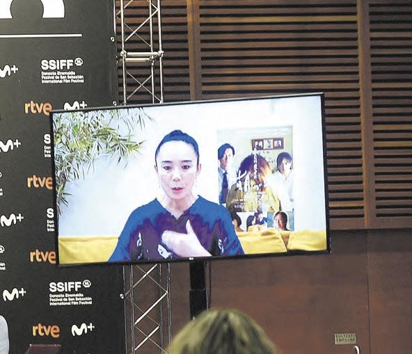 Naomi Kawase habló desde Japón.