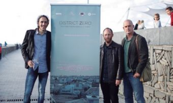 El trío de directores formado por Jorge Fernández, Pablo Tosco y Pablo Iraburu.