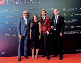 El equipo de la película, en el Kursaal
