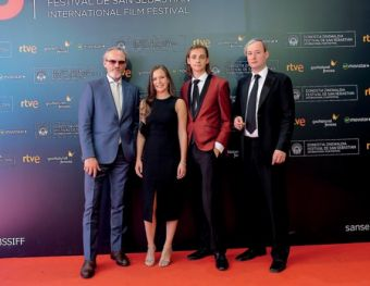 The team of the film, in the Kursaal