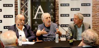 Antonio Resines, Fernando Trueba y Juan Zavala, en la presentación.