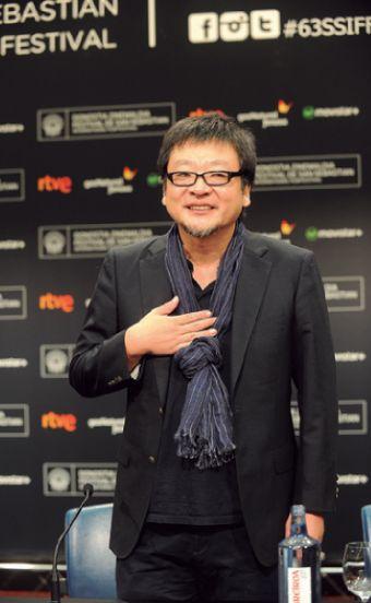 Japanese director Mamoru Husoda, photographed in the Kursaal.