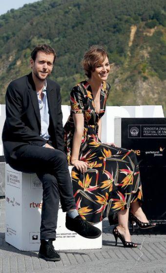 Director Joachim Lafosse and actress Louise Burgoin