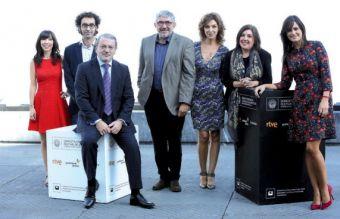 Los principales responsables de RTVE para la promoción del cine español.