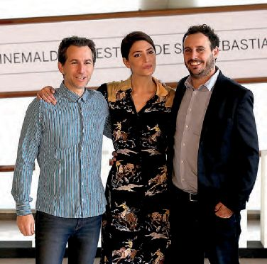 El productor Nicolas Avruj, la actriz Bárbara Lennie y el director Diego Lerman.