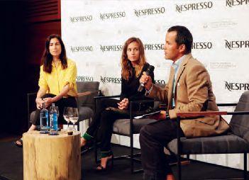 Marina Seresesky, Marta Etura y Jaime de la Rica en la presentación de Una nueva vida.