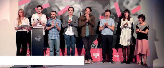 Acto de entrega de premios de los cortometrajes galardonados.